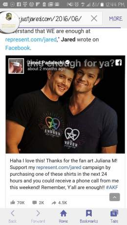 Jared Phone FB Post 1